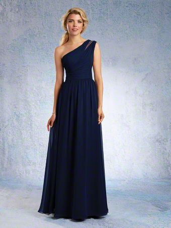 Floor Length Single Shoulder Alfred Angelo Gown - different colour, size 8