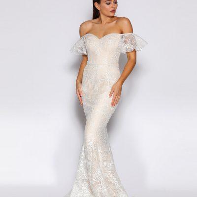 Elegant off shoulder Lace Jadore Gown, JX2041, size 18