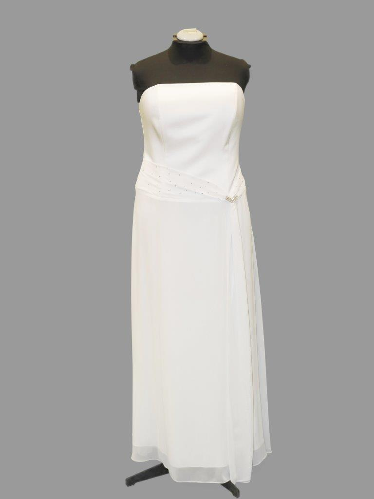 Simple Strapless Bridal or Debutante Gown, Mr K, KB4052, Size 20