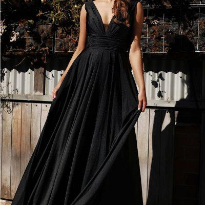 V neck Gown, Jadore, JX3053, Emerald Size 16