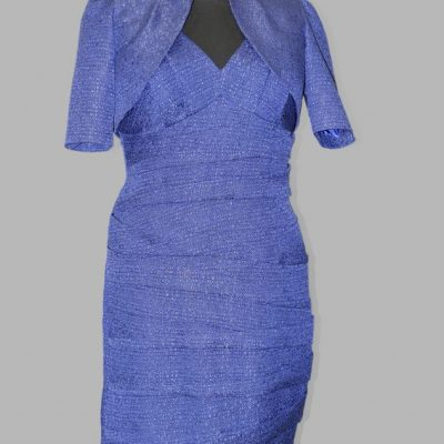 "Blue dress and bolero, ""Lounge"", size 18"